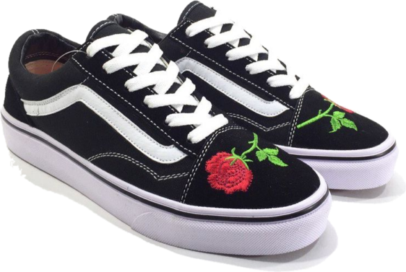 Фото Vans Old Skool (BlackRed) - 1